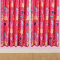 Peppa Pig Pink & Yellow Funfair Pencil Pleat Children's Curtains (W)168cm (L)137cm