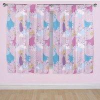 Disney Princess Pink Pencil Pleat Children's Curtains (W)168cm (L)137cm