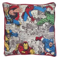 Marvel Defenders Comic Book Red Blue Green & Yellow Cushion