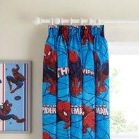 Marvel Spiderman Blue & Red City Pencil Pleat Children's Curtains (W)660cm (L)540cm
