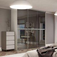 Minimalist Sliding Wardrobe Door (H)2480mm (W)1200mm