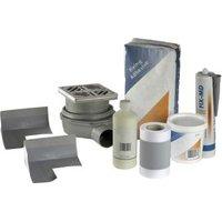 Aquadry Wet room waste & waterproofing kit.