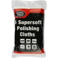 AutoPro accessories Cotton Polishing cloth Pack of 5