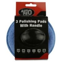 AutoPro accessories Microfibre Polishing pads Pack of 3