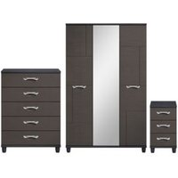 Juno Black 3 piece bedroom furniture set