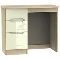 Monte carlo Cream Oak effect Dressing table (H)800mm (W)930mm (D)410mm
