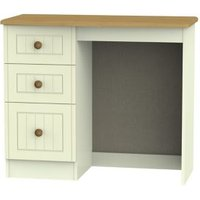 Warwick Matt cream oak effect 3 Drawer Desk (H)795mm (W)930mm (D)415mm