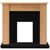 Buxton Oak veneer Solid marble & wood Surround set