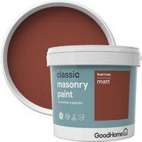 GoodHome Classic Harrow Smooth Matt Masonry paint  5L Tin