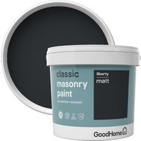 GoodHome Classic Liberty Smooth Matt Masonry paint  5L Tin