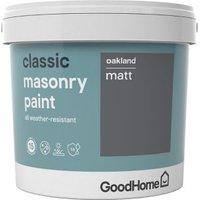 GoodHome Classic Oakland Smooth Matt Masonry paint  5L Tin