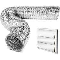 Kitchenequip Aluminium Cooker Hood Vent Kit (D) 150mm
