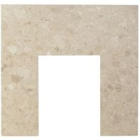 Aurora Botticino White Marble Back panel (H)940mm (W)940mm