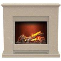 Aurora Elsdon Roman stone Electric Fire Suite