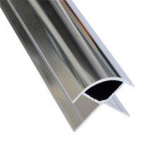 Splashwall Silver Shower panelling external corner (L)2420mm