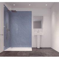 Splashwall Sky Blue Single Shower Panel (L)2420mm (W)585mm (T)11mm