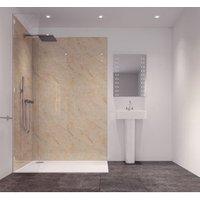 Splashwall Tuscan Cream Single Shower Panel (L)2420mm (W)585mm (T)11mm