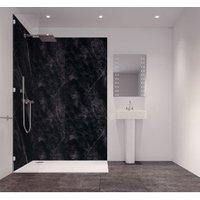 Splashwall Tuscan Black Single Shower Panel (L)2420mm (W)585mm (T)11mm