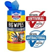 Big Wipes Scrub & clean Unscented Wipes Pack of 80