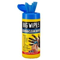 Big Wipes Scrub & clean Unscented Wipes Pack of 40