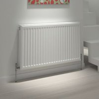 Kudox Type 21 Steel panel Type 21 Panel radiator White  (H)400mm (W)500mm