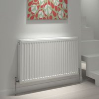 Kudox Type 11 single Panel radiator White  (H)600mm (W)400mm