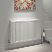 Kudox Type 11 single Panel radiator White  (H)600mm (W)700mm