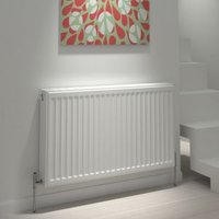 Kudox Type 22 Double Panel Radiator White  (H)300mm (W)600mm