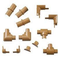 D-Line ABS Plastic Wood-Effect Trunking Accessories (W)16mm Pieces Of 13