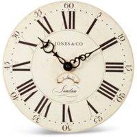 Jones Clocks Columbus Cream Analogue Clock