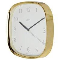 Jones Vogue Contemporary Brass effect Quartz Clock.