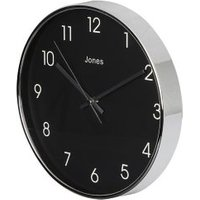 Jones Studio Contemporary Chrome effect Quartz Clock