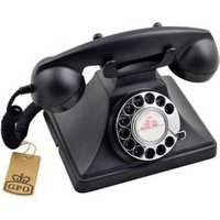 GPO Classic Black Corded Rotary telephone.