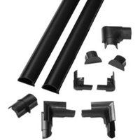 D-Line Self extinguishing PVC & ABS plastic Black Trunking (W)30mm  Pack of 2