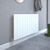 Kudox AluLite Flat Designer radiator White  (H)600mm (W)1040mm