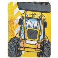 JCB Yellow & black Tractor Fleece Blanket