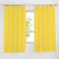 Minion Yellow Pencil Pleat Children's Curtains (W)167 cm (L)137 cm
