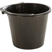 Proplas Black Plastic 14L Bucket