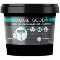 Make Good Quick dry Plasterboard Jointing filling & finishing compound 10kg Tub