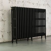 Arroll Neo-Classic 4 Column Radiator  Black Primer (W)1234mm (H)760mm