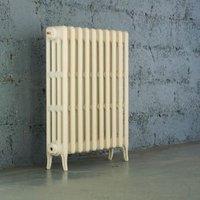 Arroll Neo-Classic 4 Column radiator  Cream (W)754mm (H)760mm