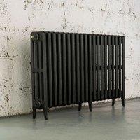 Arroll Neo-Classic 4 Column radiator  Pewter (W)1114mm (H)660mm