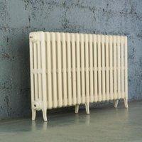Arroll Neo-Classic 4 Column radiator  Cream (W)1114mm (H)660mm
