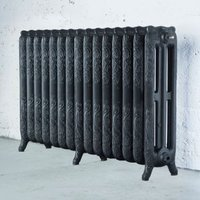 Arroll Montmartre 3 Column radiator  Pewter (W)1234mm (H)760mm