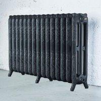 Arroll Montmartre 3 Column radiator  Anthracite (W)1234mm (H)760mm