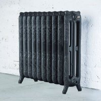 Arroll Montmartre 3 Column radiator  Anthracite (W)834mm (H)760mm
