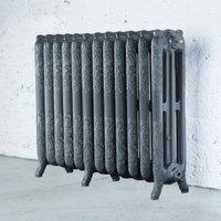 Arroll Montmartre 3 Column radiator  Cast grey (W)994mm (H)760mm