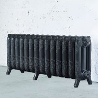 Arroll Montmartre 3 Column Radiator  Pewter (W)1154mm (H)470mm
