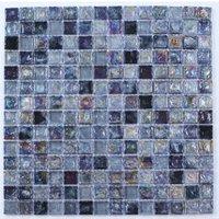 Vodka Purple Glass & marble Mosaic tile  (L)300mm (W)300mm