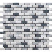 Carrera Multicolour Marble Mosaic tile (L)321mm (W)304mm